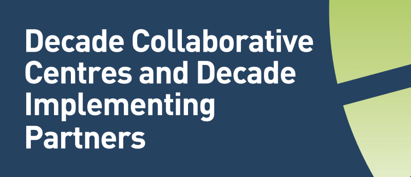 Decade Collaborative Centres and Decade Implementing Partners cover